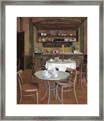 Al Lume Di Candela Framed Print by Guido Borelli