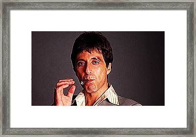 Al Pacino Framed Print by Queso Espinosa