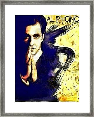 Al Pacino The Goodfather Framed Print by Riccardo Zullian