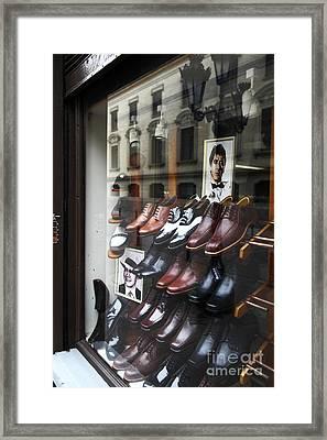 Al Pacino's Shoe Collection Framed Print by James Brunker