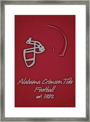 Alabama Crimson Tide Helmet Framed Print by Joe Hamilton