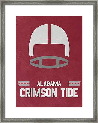 Alabama Crimson Tide Vintage Football Art Framed Print by Joe Hamilton
