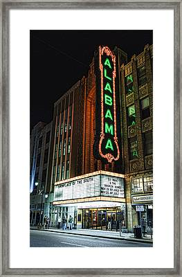 Alabama Theater Framed Print by Stephen Stookey