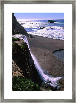 Alamere Falls - Wildcat Beach Framed Print by Soli Deo Gloria Wilderness And Wildlife Photography