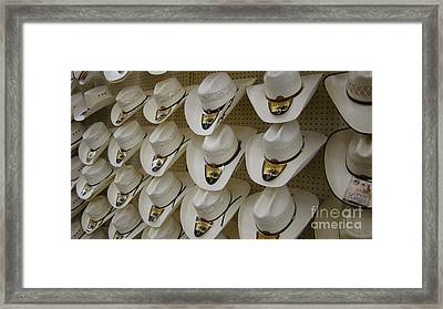 Alamo Hat Company Framed Print by Beverly Guilliams