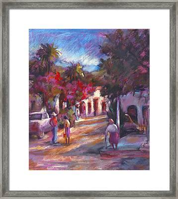 Alamos Street Framed Print by Joan  Jones