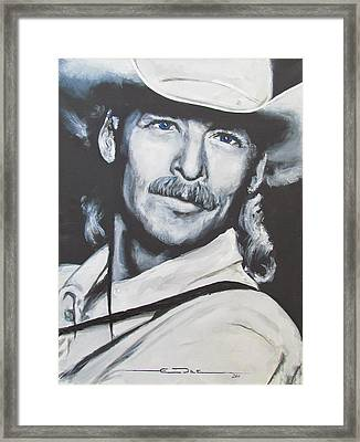 Alan Jackson - In The Real World Framed Print by Eric Dee