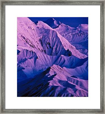 Alaska Range Twilight Framed Print by Tim Rayburn