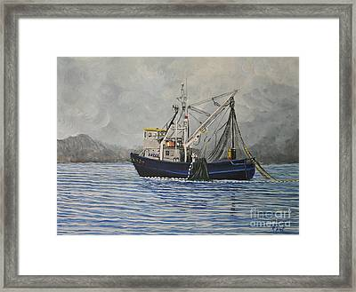Alaskan Fishing Framed Print by Reb Frost