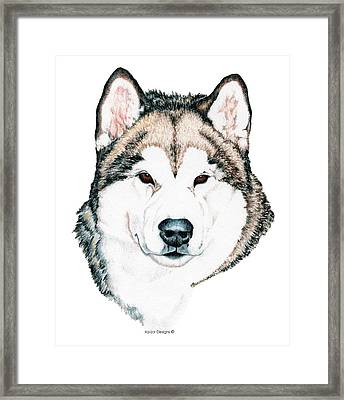 Alaskan Malamute Framed Print by Kathleen Sepulveda