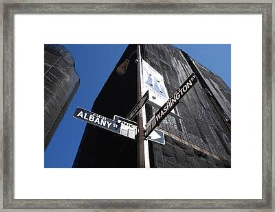 Albany And Washington Framed Print by Rob Hans