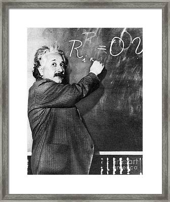Albert Einstein Framed Print by Photo Researchers