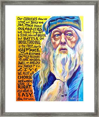 Albus Framed Print by Alicia VanNoy Call
