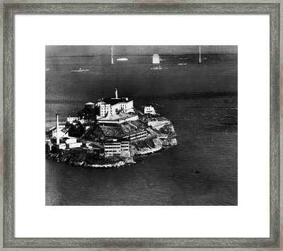 Alcatraz Island, San Francisco, While Framed Print by Everett