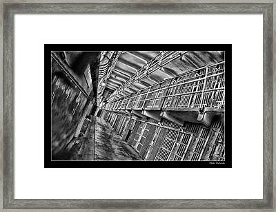 Alcatraz The Cells Framed Print by Blake Richards