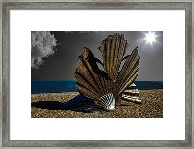 Aldeburgh Beach Shell Sculpture Framed Print by Martin Newman