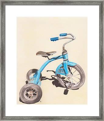 Alder's Bike Framed Print by Glenda Zuckerman