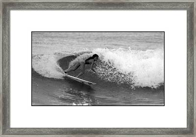 Alessa Quizon Cutback Framed Print by Brad Scott
