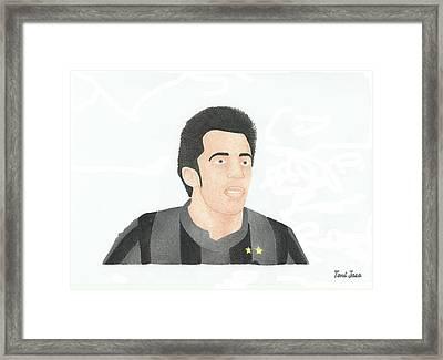 Alessandro Del Piero Framed Print by Toni Jaso