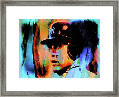 Alex Rodriguez 02c Framed Print by Brian Reaves