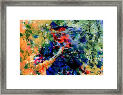 Alex Rodriguez 03f Framed Print by Brian Reaves