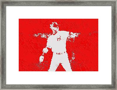 Alex Rodriguez 3c Framed Print by Brian Reaves