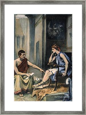 Alexander & Aristotle Framed Print by Granger