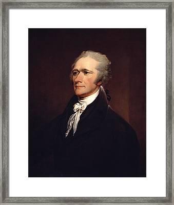 Alexander Hamilton By John Trumbull Framed Print by War Is Hell Store
