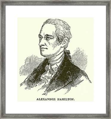 Alexander Hamilton Framed Print by English School