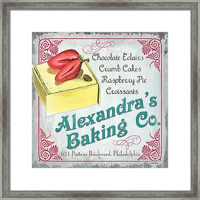 Alexandra's Baking Company Framed Print by Debbie DeWitt