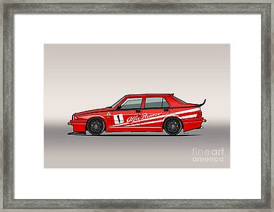 Alfa Romeo 75 Tipo 161 Works Corse Competizione Rosso Framed Print by Monkey Crisis On Mars