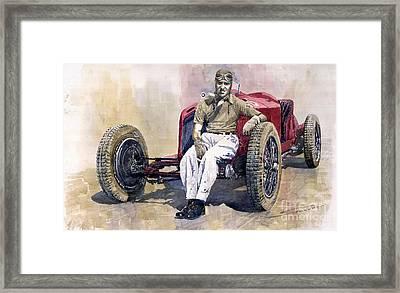 Alfa Romeo Monza Tazio Nuvolari 1932 Framed Print by Yuriy  Shevchuk