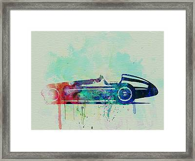Alfa Romeo Tipo Watercolor Framed Print by Naxart Studio
