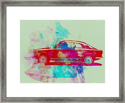 Alfa Romeo  Watercolor 2 Framed Print by Naxart Studio