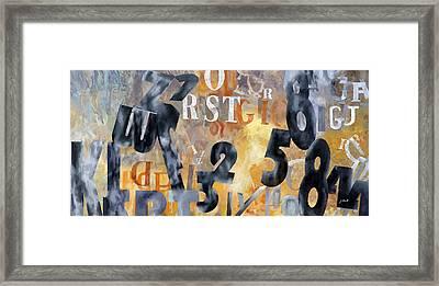 Alfabeto Giallo Nero Framed Print by Guido Borelli