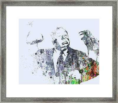 Alfred Hitchcock Birds Framed Print by Naxart Studio