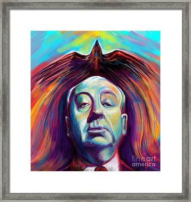 Alfred Hitchcock Framed Print by Julianne Black