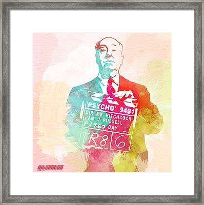 Alfred Hitchcock Framed Print by Naxart Studio