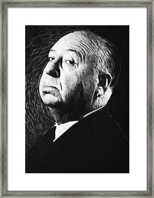 Alfred Hitchcock Framed Print by Taylan Soyturk
