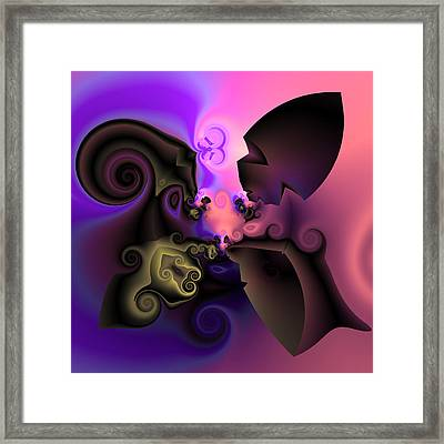 Algorithmic Plate 350 Framed Print by Claude McCoy