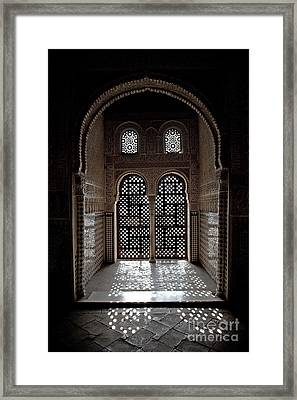 Alhambra Window Framed Print by Jane Rix