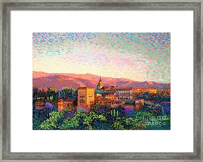 Alhambra, Grenada, Spain Framed Print by Jane Small