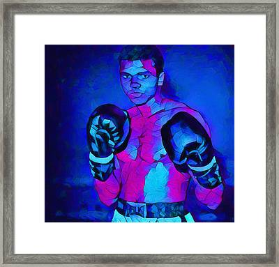 Ali Graphic Abstract Framed Print by Dan Sproul