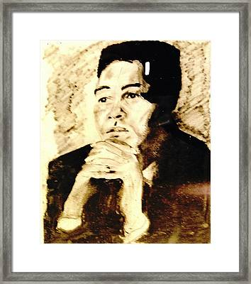 Ali  Framed Print by Jimmy King