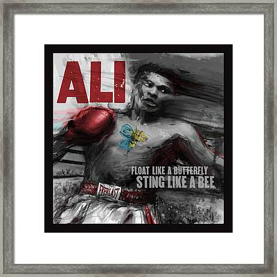 Ali Framed Print by Russell Pierce