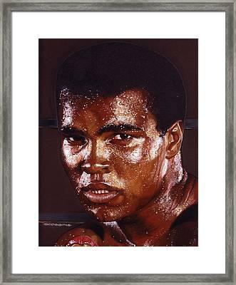 Ali Framed Print by Tim  Scoggins