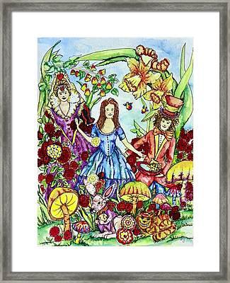 Alice Framed Print by Angela Angelilli- Mowery