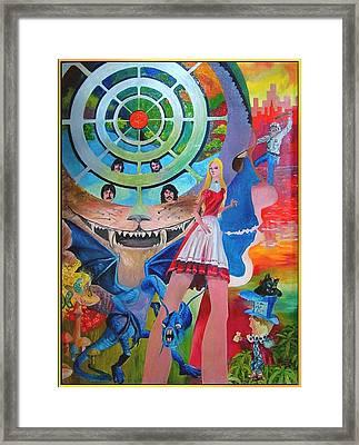 Alice Bewilderhead Framed Print by Dan Terry