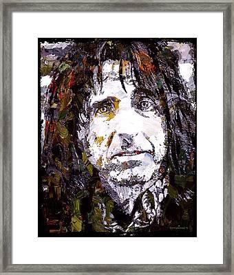 Alice Cooper Graffiti Portrait  Framed Print by Scott Wallace