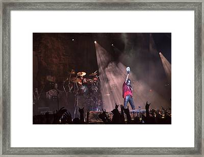Alice Cooper Framed Print by Stephen Baruday